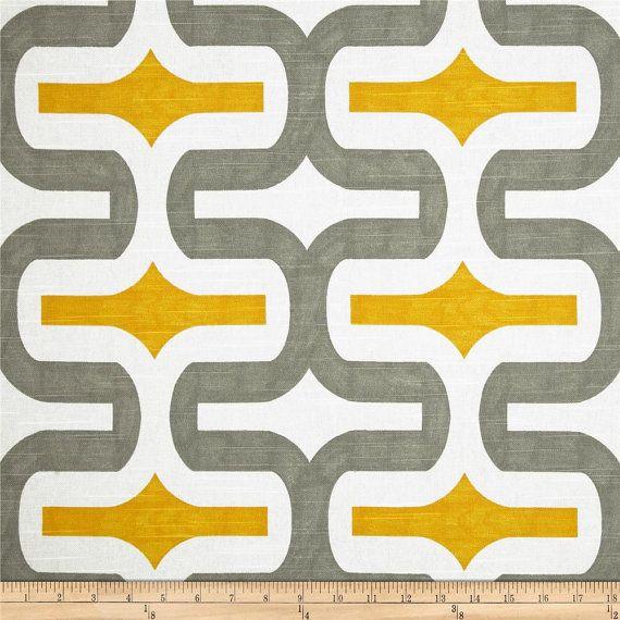 Grey Geometric Fabric by the Yard trail ash by FabricSecret