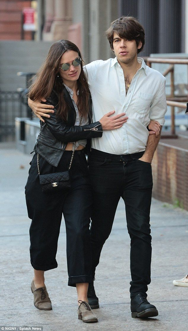 Casual chic: The 30-year-old, who gave birth to the couple's daughter in May, flashed her midriff in a knotted top