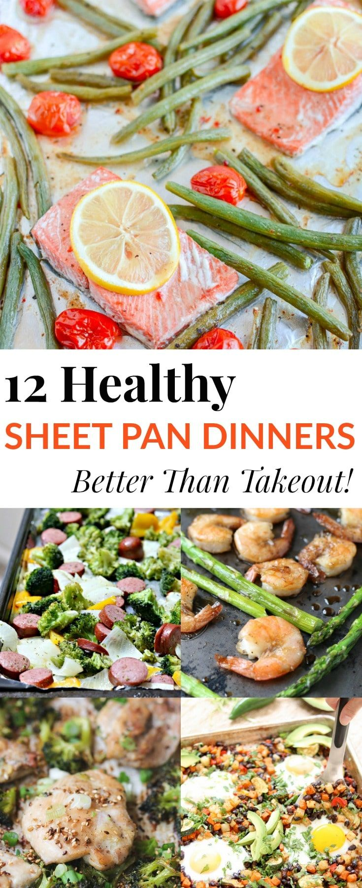 Better than takeout! These healthy sheet pan dinne…