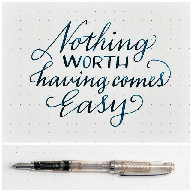 1000 images about fonts and lettering on pinterest Ballpoint pen calligraphy