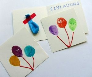DIY - selfmade invitations with balloons