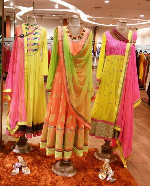Anarkalis in pastel shades are a wardrobe staple..They can be worn in summer as well as winter :)