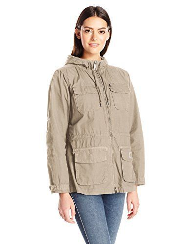 New Trending Outerwear: Carhartt Womens El Paso Utility Jacket, Field Khaki, X-Small. Carhartt Women's El Paso Utility Jacket, Field Khaki, X-Small   Special Offer: $79.99      300 Reviews The el Paso jacket has an answer for everything, with enough pockets for tools, nails, screws, cell phones, pens, and more-and it repels water, too. Made from 5.75-ounce, 100 percent...