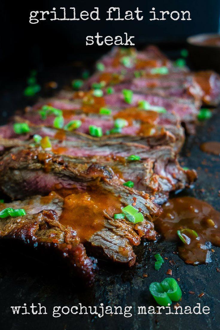 Gochujang Marinated Korean Beef Recipe Recipe Flat Iron Steak Gochujang Flat Iron Steak Recipes