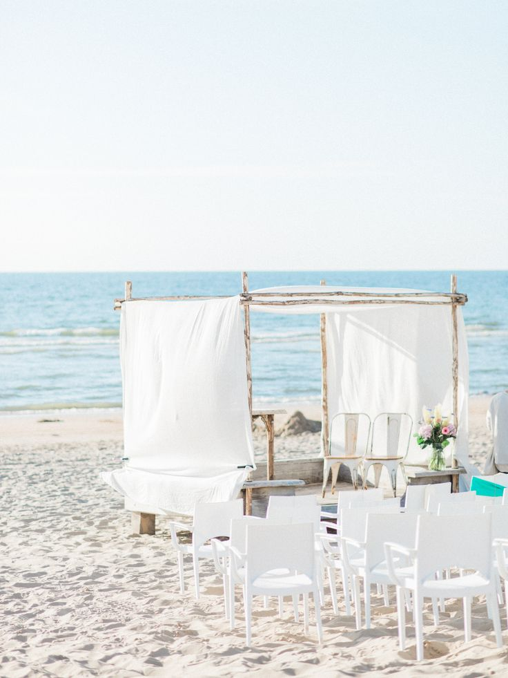 Dreamy beach Wedding Ceremony Setup Arch Romantic | Rox and San Destination Photography in Ibiza, Mallorca, Barcelona, Formentera, Bali