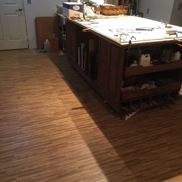Greg from Odessa, MO, loves his foam wood grain floor from Greatmats in his - 85 Best Foam Flooring Images On Pinterest Foam Flooring