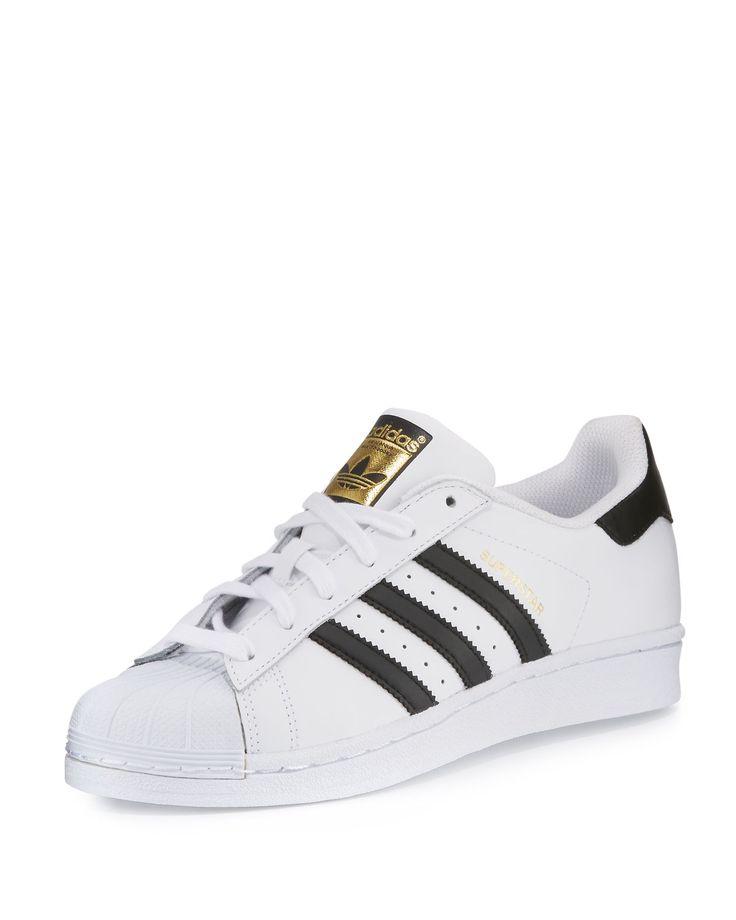 Men\u0027s Superstar Classic Leather Sneaker, White/Black