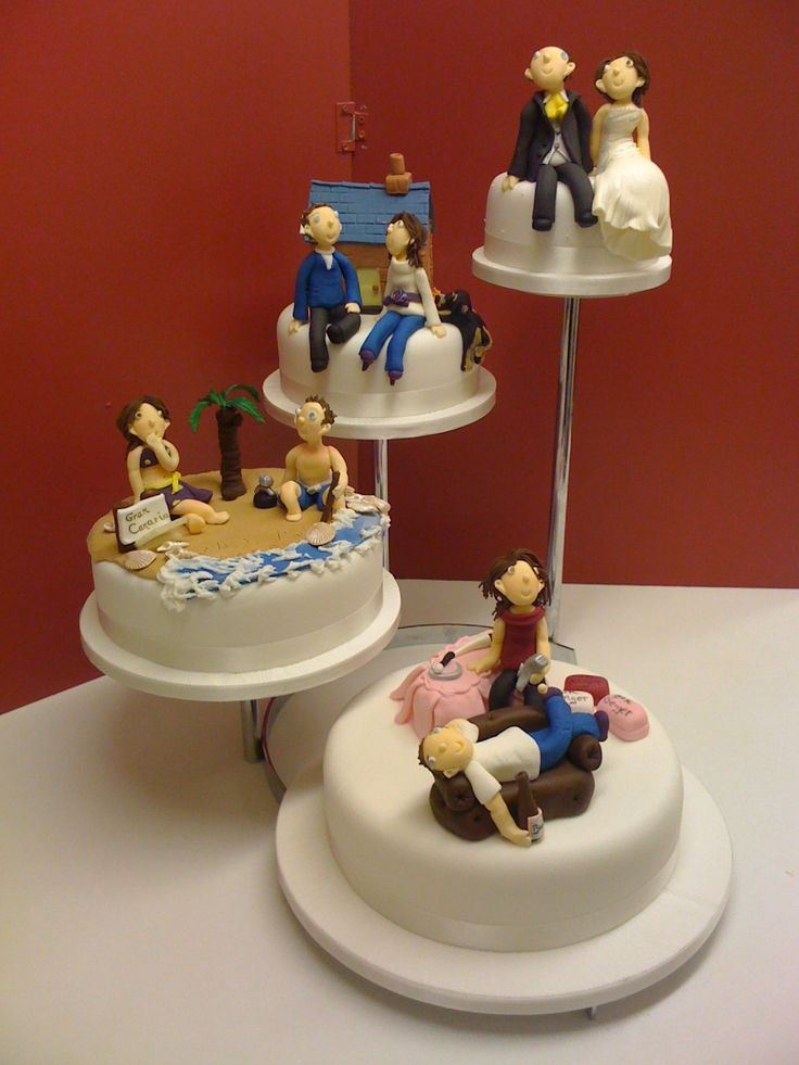 Four tier Novelty Wedding Cake