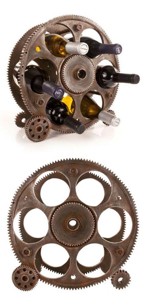 Steampunk Wine Holder //