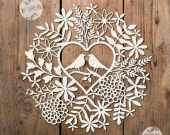 50% OFF ALL TEMPLATES!! Prices have been adjusted so no need for a coupon code xx  COMMERCIAL USE Love Birds Vintage Heart Design. Papercutting Template to print and cut yourself in SVG and PDF format.  Small Business Commercial Licence Included!!!   *****ITEM DESCRIPTION*****   - A perfect design for hand or machine paper cutting! Digitally traced from an original hand-drawing. - This item is a digital file, no physical item will be mailed. Once payment is confirmed you can download the…
