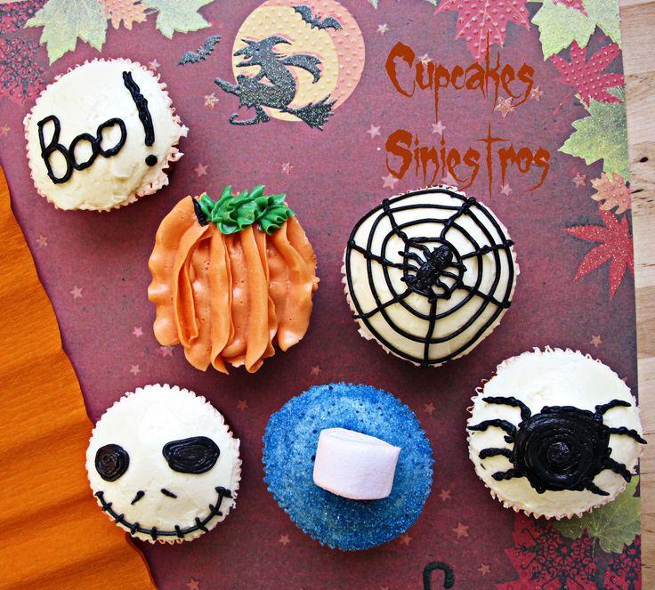 Especial Halloween: Cupcakes Siniestros de Regaliz Negro / Halloween Cupcakes black liquorice