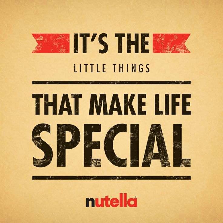 Even little things with Nutella on them!