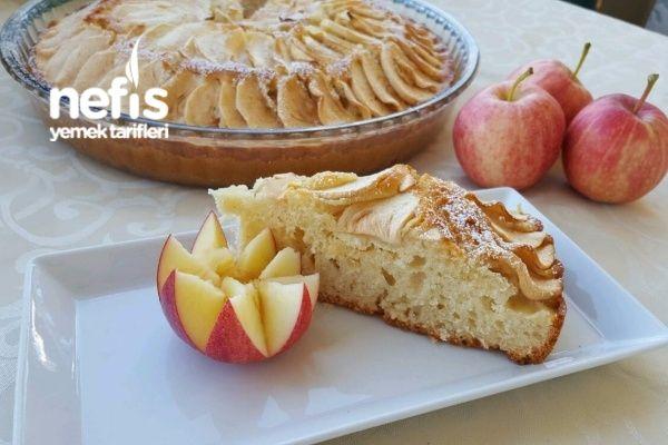 Elma Dilimli Tarçınlı Fındıklı Cevizli Kek