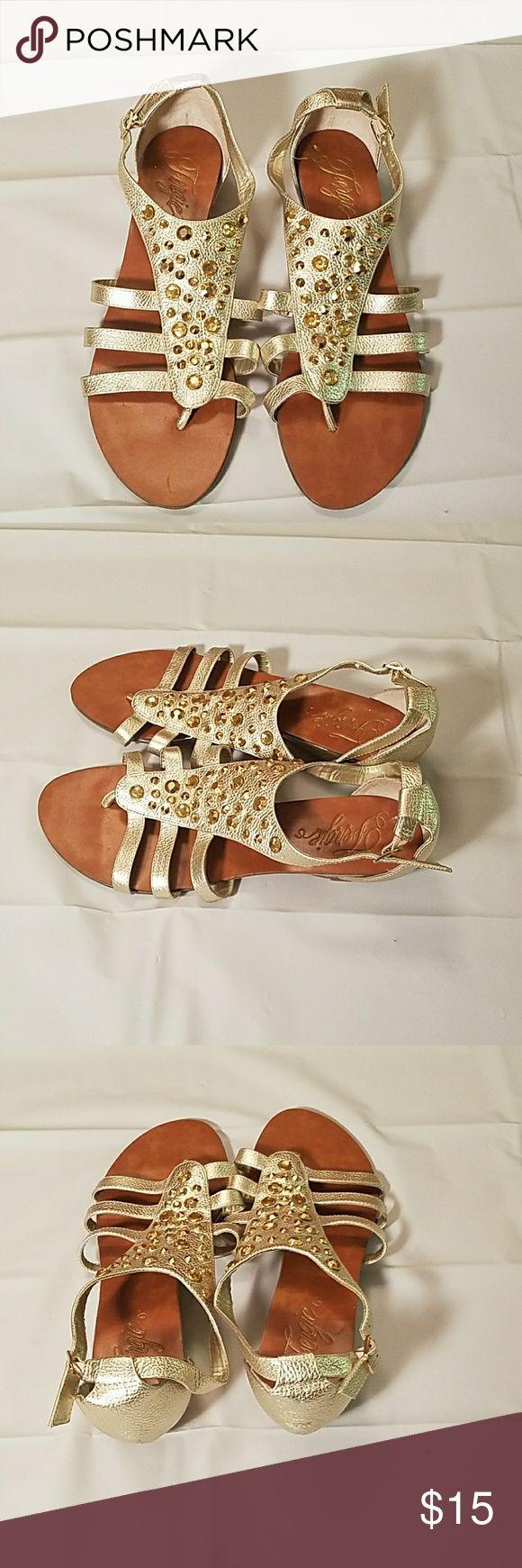 FERGIE GOLD SANDALS Excellent Condition. Comfortable & Chic! Fergie Shoes Sandals