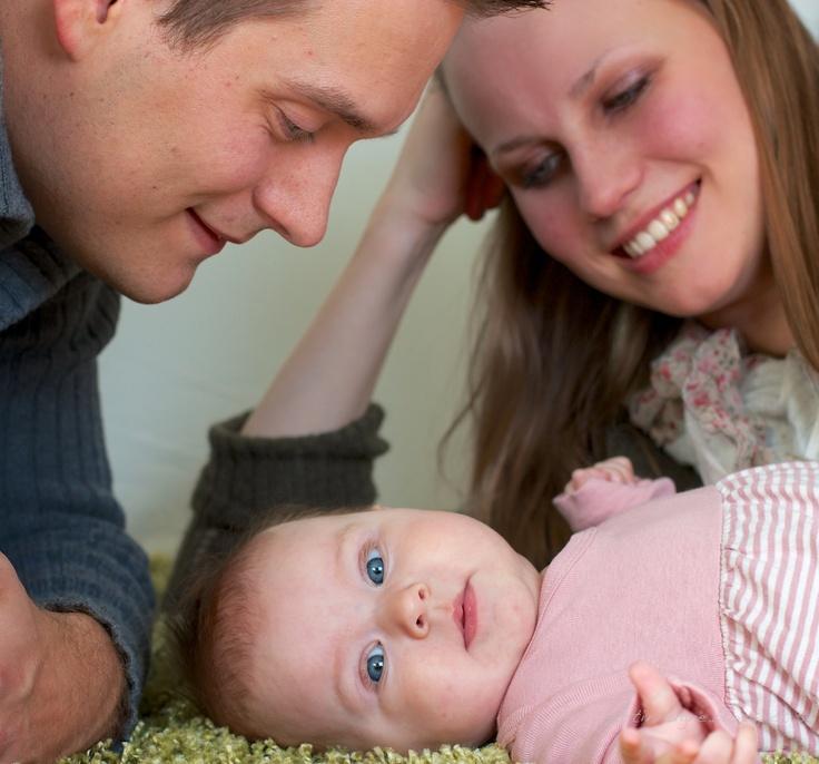 Family portrait, baby girl