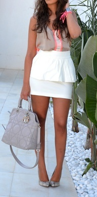 #White Skirt   #womensfashion #women #dress #fashion #fall #autumn #2012 #top #skirt #blazer #shirt #jeans #denim #heels #handbag #accessory #sweater #shoes #jacket #shorts #love #like #nice #beautiful #cute #comfy #pretty #party #casual #formal #graphic #vintage #faves #favs #yes #colour #color #cut #need #want #outfit #fun