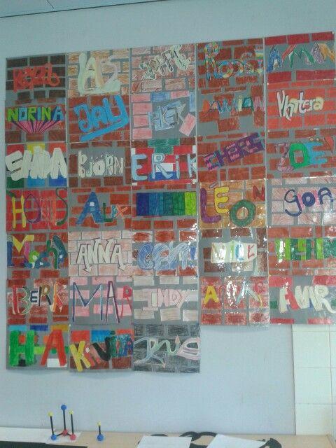 Knutsel groep 8 grafiti muur