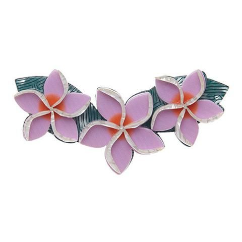 "Erstwilder Limited Edition Get Leid Brooch. ""From the tropics and the sub-tropics alike. The prodigiously pretty Plumeria is just the perfume for the perfect playdate. """