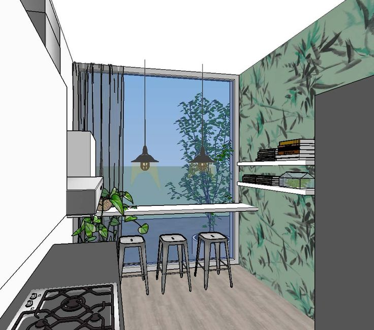 Interior design for a home in Amsterdam by www.noubia.com #noubia_interieurontwerp #interiors #interiordesign #wallpaper #kitchenbar #kitchen #interieuradvies #interieurarchitect #styling #interiorinspo