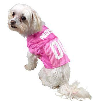 Green Bay Packers Pet Pink Mesh Jersey