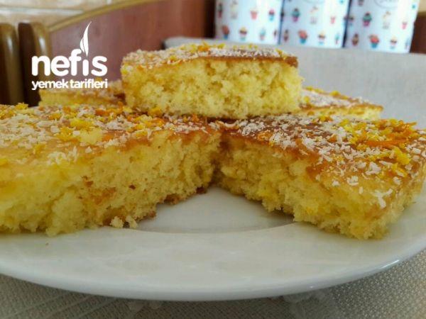 Portakallı Islak Kek (Hazır Alınmış Gibi)
