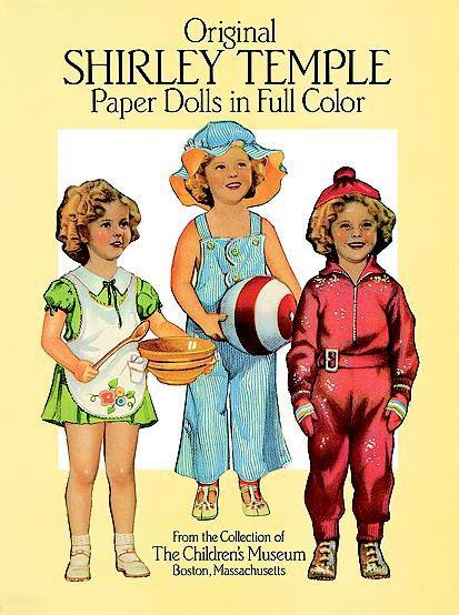 Original Shirley Temple Paper Dolls