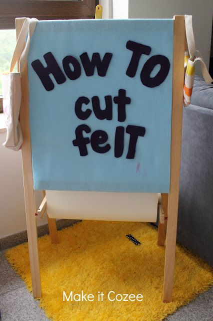 Cutting Felt - draw design onto freezer paper and then iron the paper onto felt before cutting