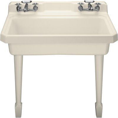 View the Kohler K-6607-4 Harborview self-rimming or wall-mount utility sink with four-hole faucet drilling, two holes on both sides of sink at Build.com.