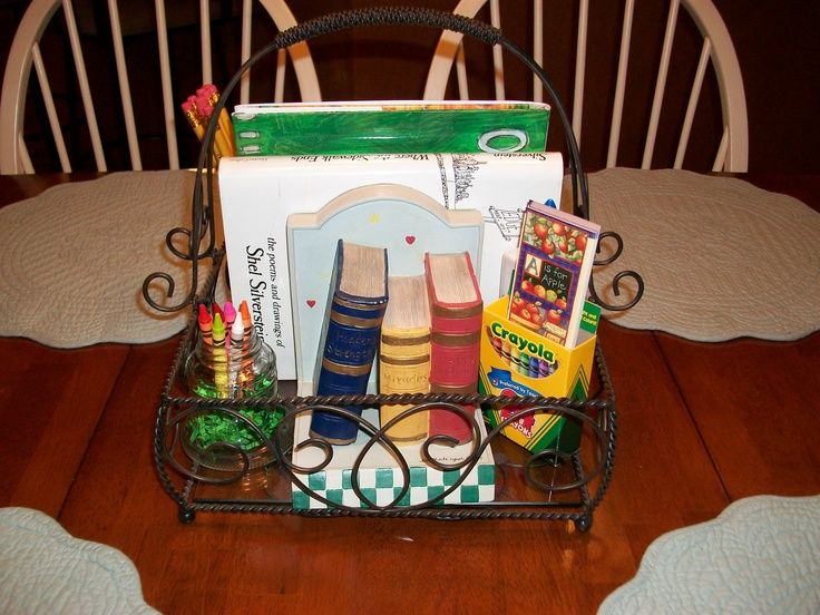 Table centerpiece for Back to School Mom's Brunch (2b