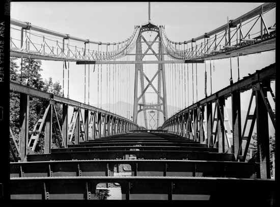 Lions Gate Bridge Construction, Vancouver