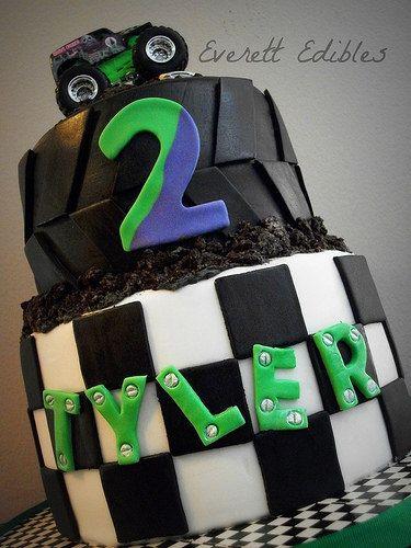 Monster Jam Gravedigger Cake 3-2015 | Flickr - Photo Sharing!