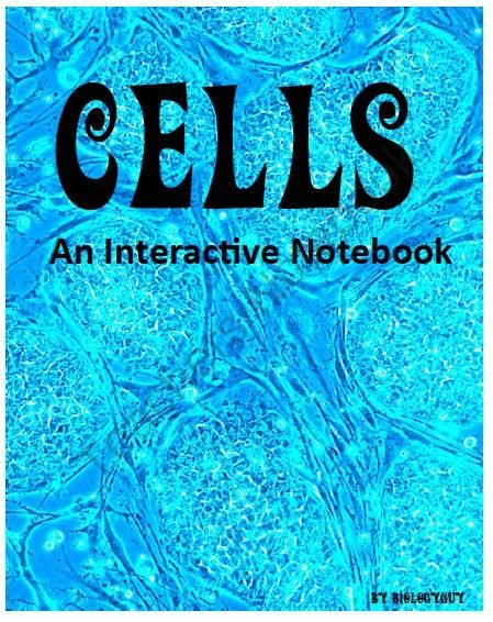 cells interactive notebook from the science corner on