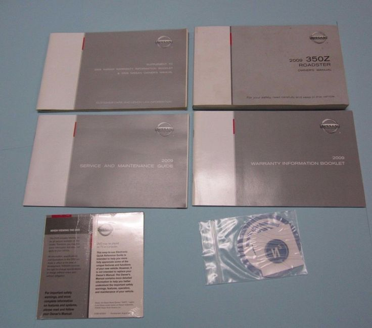 2009 NISSAN 350Z Roadster OWNERS MANUAL with Many Books Included + CD! OEM