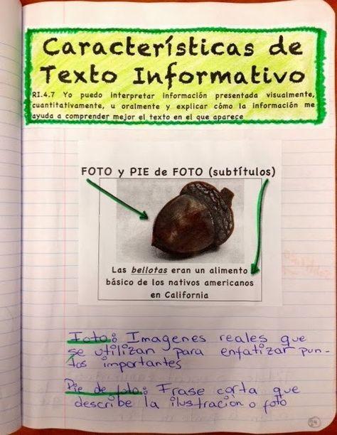 Non-Fiction Text Features Unit (Spanish)/Características de textos informativos