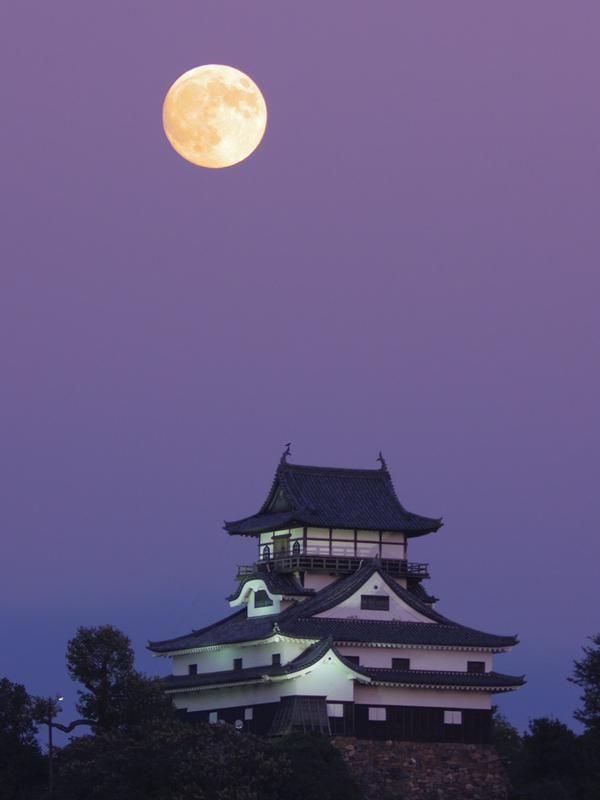 """ej20kさんはTwitterを使っています: """"今宵は十五夜、中秋の名月♪ 近くにいた方に双眼鏡を回し見してもらいました。 〜国宝犬山城〜"""