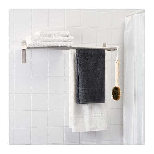 grundtal towel hanger shelf stainless steel for dogs. Black Bedroom Furniture Sets. Home Design Ideas