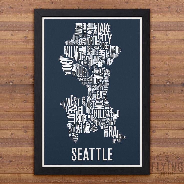 Seattle Neighborhood Map 70 best Seattle images