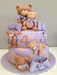 teddy bear themed baby shower cakes - Google Search
