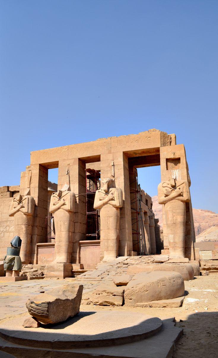 Entrance to Ramesseum, Egypt
