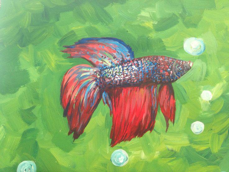Fish   Acrylic on paper 2015