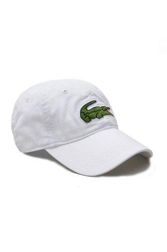Lacoste Men's Large Green Croc Gabardine Cotton Cap