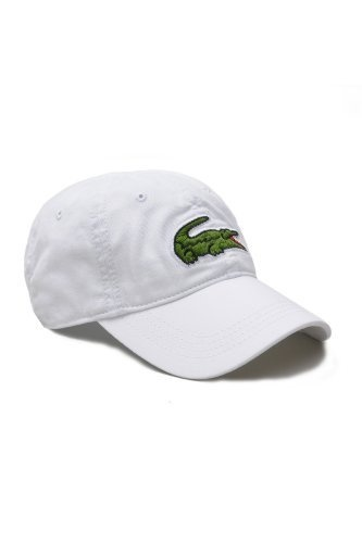 Lacoste Men's Large Green Croc Gabardine Cotton Cap