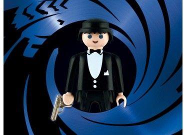 Tableau plexi signé numéroté Playmobils thème James Bond du créateur Richard Unglik chez www.ksl-living.fr