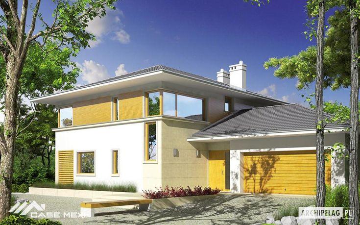"""Arhitectura acestei locuinte poate fi caracterizata drept """"contemporana"""", la moda, combinand elemente de design traditionale – acoperisul in sarpanta – cu cele moderne – logii si terase generoase"""