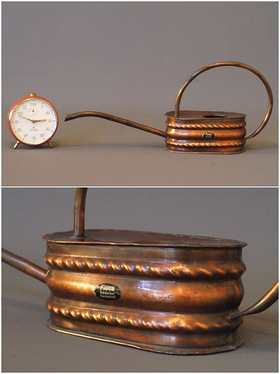 COPPER WATERING CAN Rustic Modern Watering Can Solid Copper