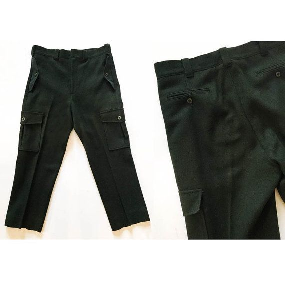 1934 Woolrich Pants / 30s Wool Hunting Pants / Vintage 1930s Forest Green Wool Trousers / VTG Hunting Riding Suspender Trousers Sz: 36 X 28