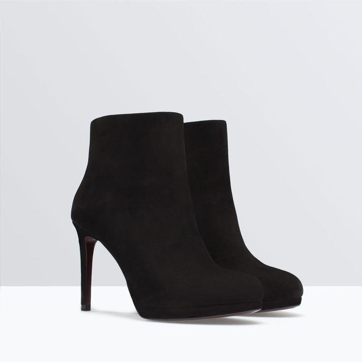 LEATHER PLATFORM BOOTIE-Shoes | ZARA United States