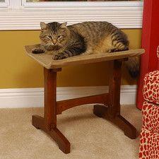 "Craftsman Series 19"" Single Seat Wooden Cat Perch"