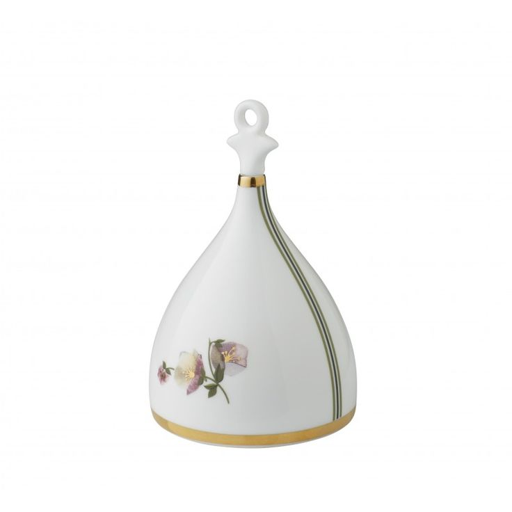 Porcelain Bell in Bone China with Flower motif & Gold print
