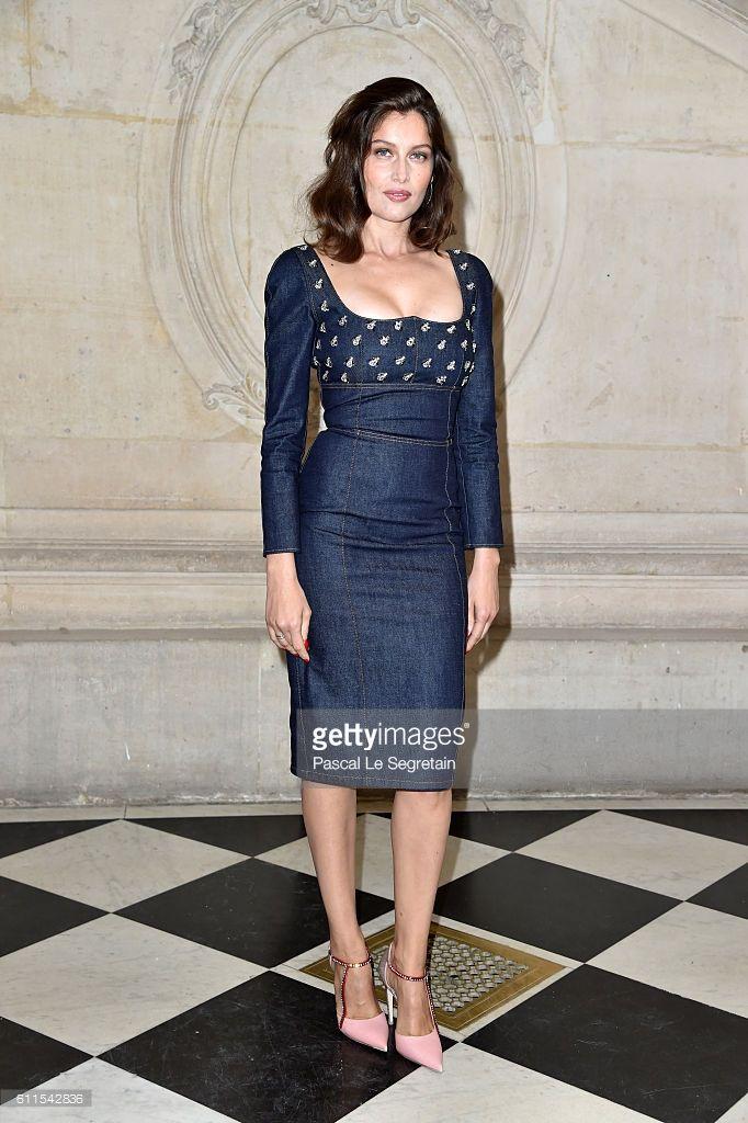 Photo d'actualité : Laetitia Casta attends the Christian Dior show of...